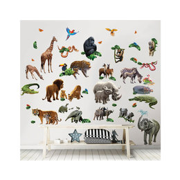 Walltastic Muursticker Box Jungle Dieren 65- delig