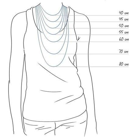 Michelle Bijou Stainless steel ketting grote schakel -wit