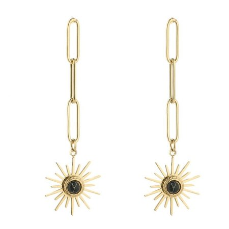 Michelle Bijou Staninless steel oorbellen Sunshine