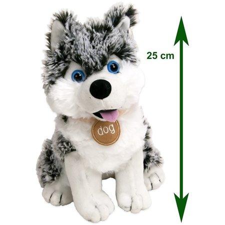 Dinotoys Superzachte Husky Hond knuffel 30 cm