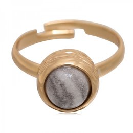 Yehwang Dutch Design stainless steel ring marble gold