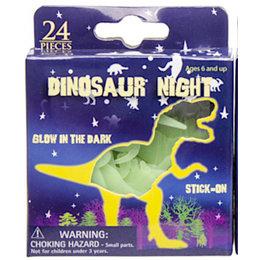LG Dinosaurus Muurstickers Glow-In-The-Dark 24 stuks