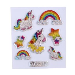 LG Unicorn glitter stickers