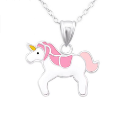 Amore  Sterling zilveren ketting unicorn