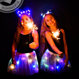 Ibiza hairlights Poezen Diadeem met led lampjes blue moon