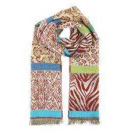 dames sjaal groot met dierenprint