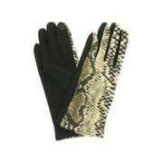 dames handschoenen snake taupe