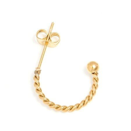 Yehwang Dutch Design gouden creolen oorbellen 13 mm
