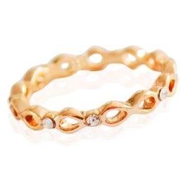 Yehwang Dutch Design stainless steelgoldplated  ring  rosé goud zirconia