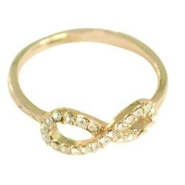 Yehwang Dutch Design goldplated ring infinity met kristallen
