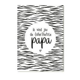 Zoedt Cadeaukaartje Ik vind jou de allerliefste Papa