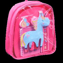 ToyToy Kinder rugzak Unicorn -met schoolspullen