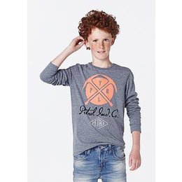 Petrol Industries superzachte longsleeve met dubbelprint faded blue