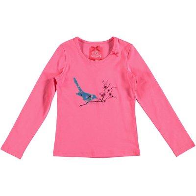 Bampidano longsleeve roze met vogeltje