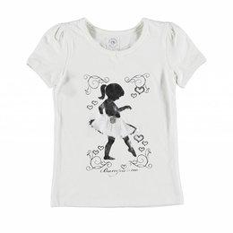 Bampidano shirtje met zilveren Ballerina