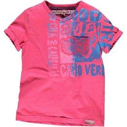 Moodstreet V-hals shirt Faded Beet