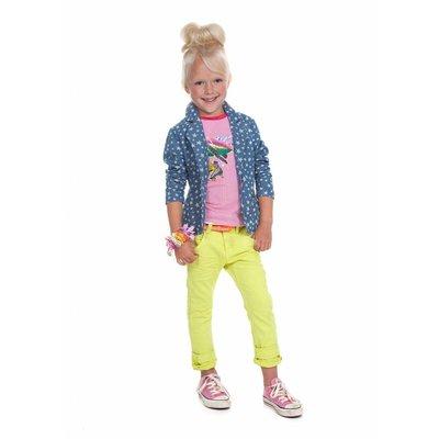 Moodstreet stoere skinny jeans citroen geel