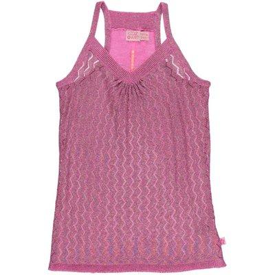 Kidz-Art ajour topje knitted purple pink