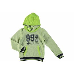 Bampidano boys hooded sweatshirt lime