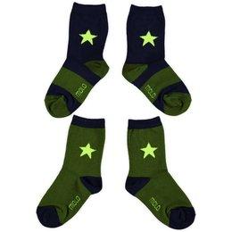 Molo twee paar sokken retro army