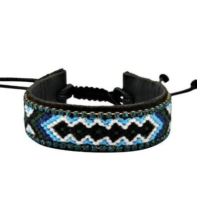 Jozemiek IBIZA leather bracelet blue