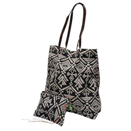 Jozemiek Go2Beach shopper / tassen set Ibiza black