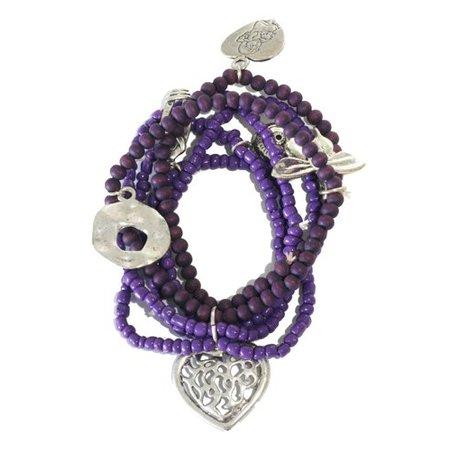 Jozemiek armband Purple Rain