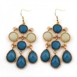 Love Ibiza oorbellen Blue Jewels