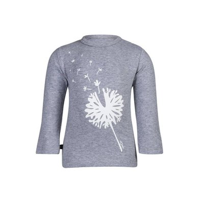 nOeser unisex shirtje blowflower grey