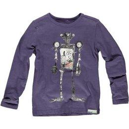 Moodstreet shirt vintage robot purple