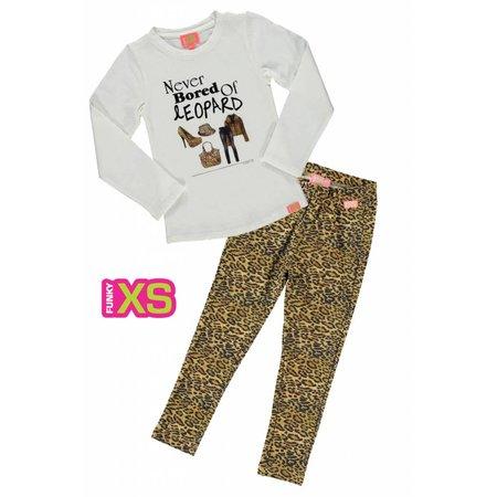Funky XS legging Leopard brown