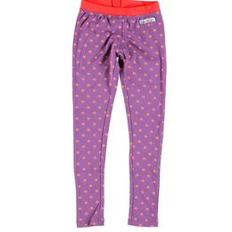 Moodstreet legging purple pink dots