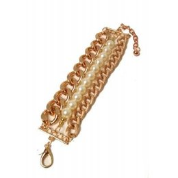 Jozemiek CHUNK armband gold and pearls