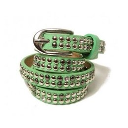 CU Dames Riem studs en strass lightgreen