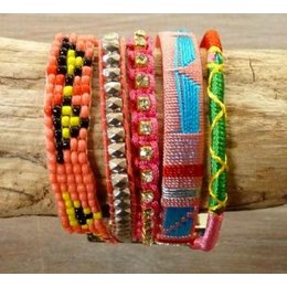Love Ibiza LOVE IBIZA armband Happiness Pink