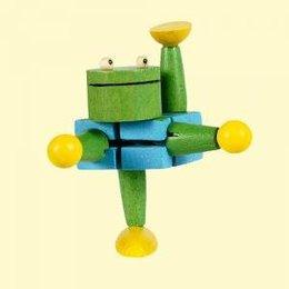 ToyToy houten kikker acrobaatje