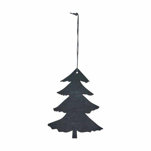 Houten ornament Kerstboom 12cm