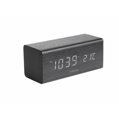 Karlsson Alarm klok Block - Zwart