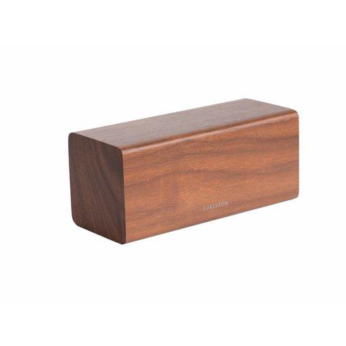 Karlsson Alarm klok Block - Donker hout