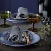 HKliving Keramiek 70's dinner bord - Blauw