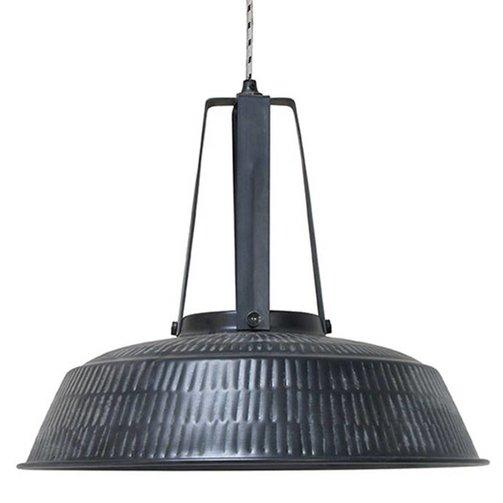 HKliving Lamp 'workshop' Rustic  mat zwart