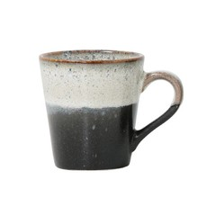 HKliving Keramiek 70's espresso mok - rock
