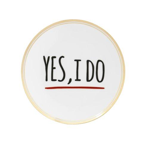 Bitossi Home Ontbijtbord  'Yes I Do' - 17 cm