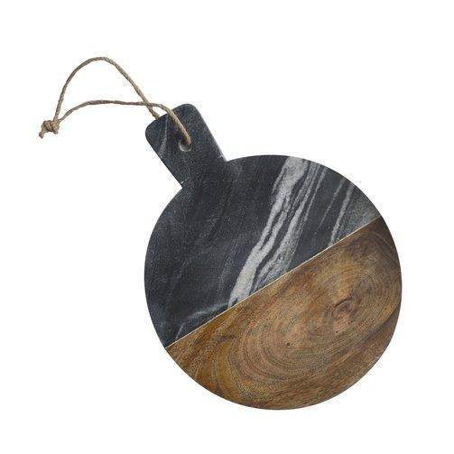 Dassie Artisan Snijplank rond Marble grijs