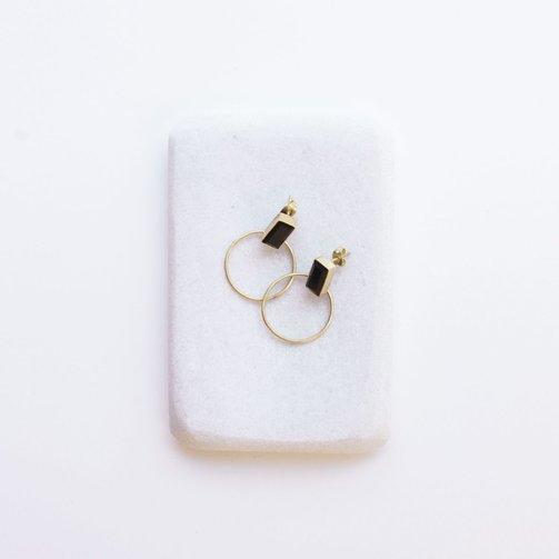 Dassie Artisan Dassie Baalee Earrings Black Onyx