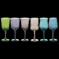 Bitossi Home Desigual gekleurde wijnglazen, set van 6