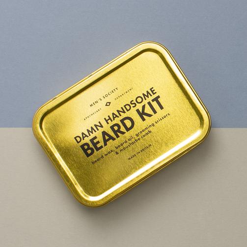 Men's Society Damn Handsome Beard Grooming Kit