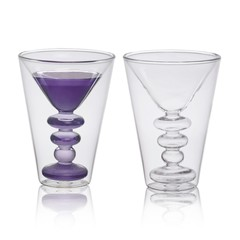 Bitossi Home Dubbelwandig glas Martini, set 2