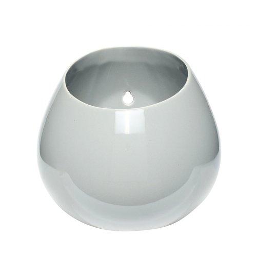 Hübsch Pot porselein lichtgrijs