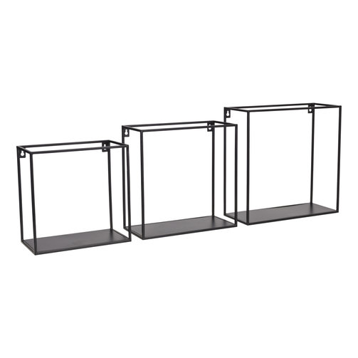 KidsDepot Wire wallbox zwart set 3 stuks